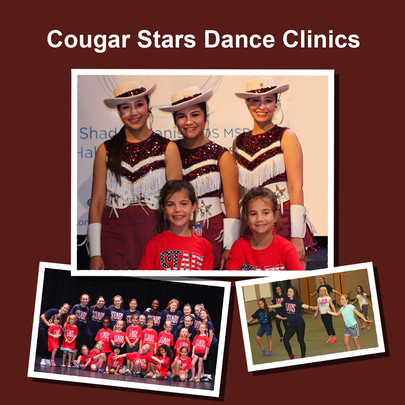 Cougar Stars Dance Clinics 2016-2017